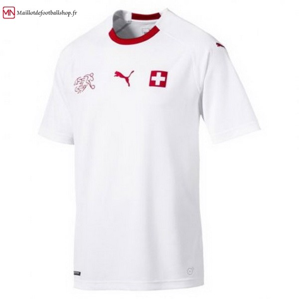 Maillot Football Suisse Exterieur 2018 Blanc