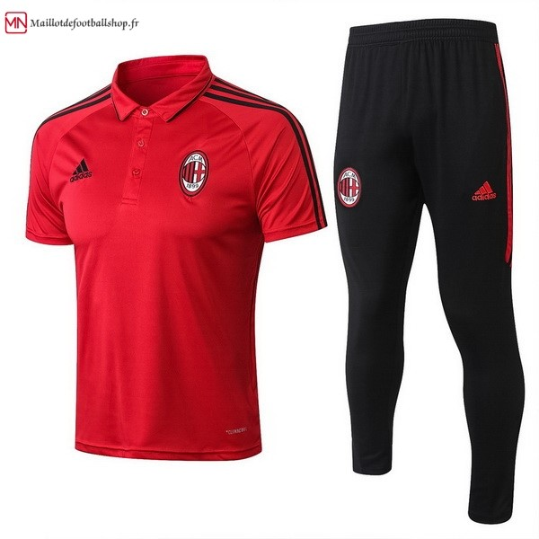 Polo Football AC Milan Ensemble Complet 2017/2018 Rouge