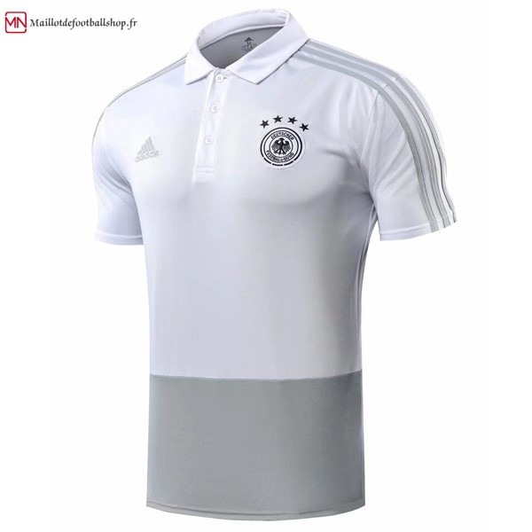 Polo Football Allemagne 2018 Gris Blanc