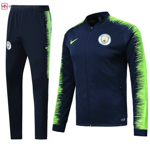Survetement Football Manchester City 2018/2019 Bleu Vert
