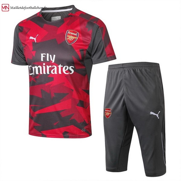 Maillot Football Entrainement Arsenal Ensemble Complet 2018/2019 Rouge Gris Marine