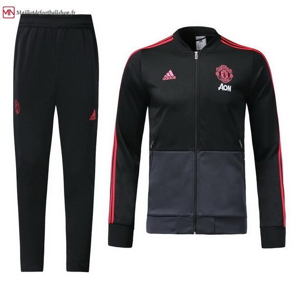 Survetement Football Manchester United 2018/2019 Noir Gris