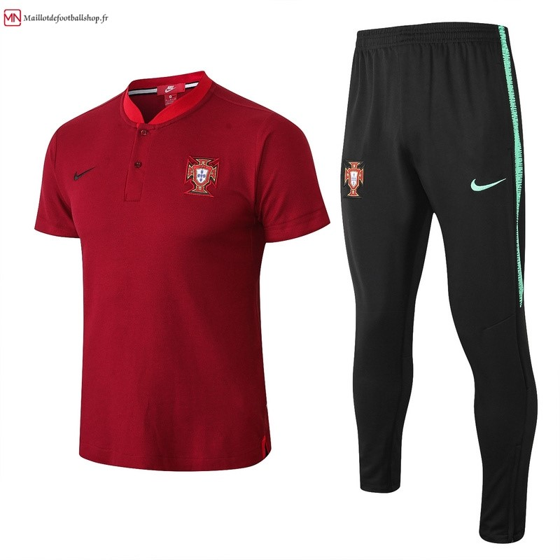 Polo Football Portugal Ensemble Complet 2018 Rouge