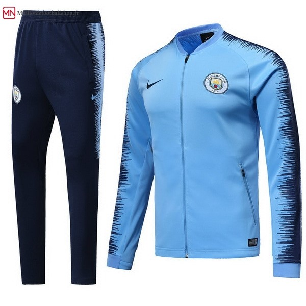 Survetement Football Manchester City 2018/2019 Bleu Clair