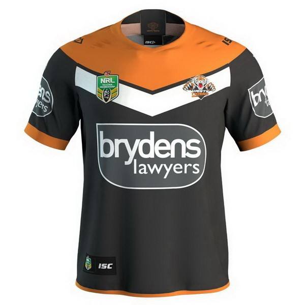 Maillot Rugby Wests Tigers Domicile 2018 Noir