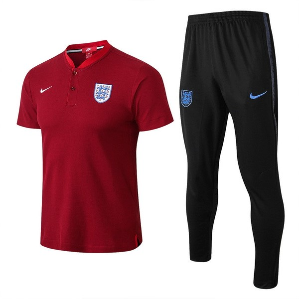 Polo Football Angleterre Ensemble Complet 2018 Rouge