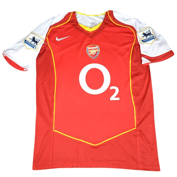 Maillot Football Arsenal Domicile Retro 2004/05 Rouge