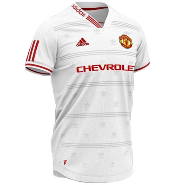 Maillot Football Manchester United Concept 2019 2020 Blanc Rouge