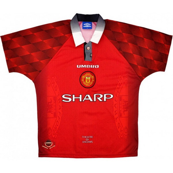 Maillot Football Manchester United Domicile Retro 1996 1997 Rouge