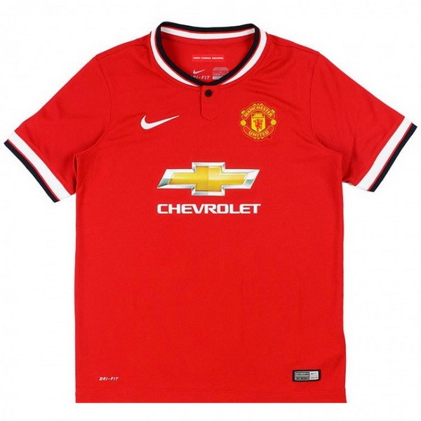 Maillot Football Manchester United Domicile Retro 2014 2015 Rouge