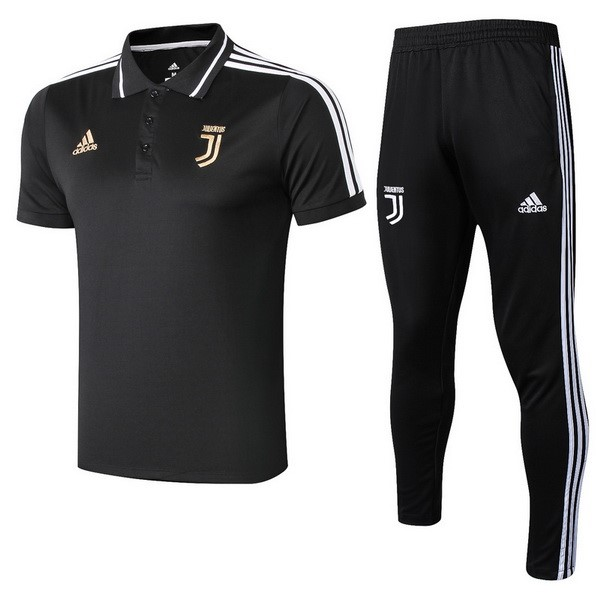Polo Football Ensemble Complet Juventus 2018/2019 Noir Or