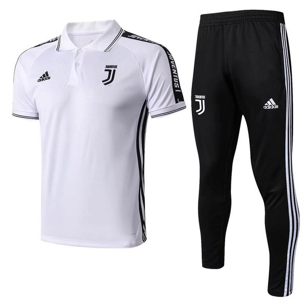 Polo Football Ensemble Complet Juventus 2019/2020 Blanc Noir