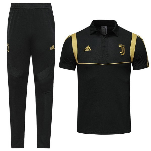 Polo Football Ensemble Complet Juventus 2019/2020 Noir Jaune