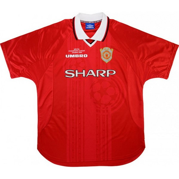 Maillot Football Manchester United Domicile Retro 1999 2000 Rouge