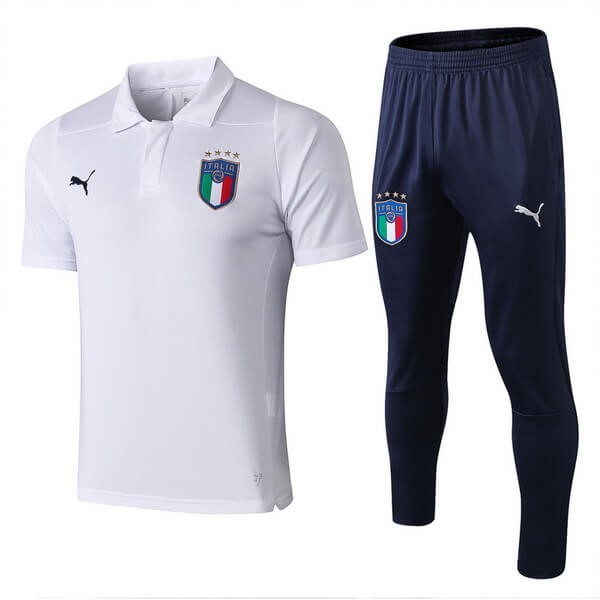 Polo Football Ensemble Complet Italie 2018 Blanc