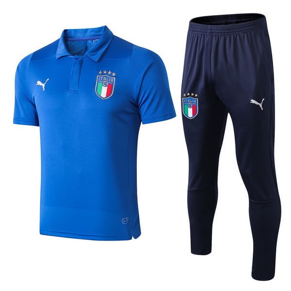 Polo Football Ensemble Complet Italie 2018 Bleu Clair
