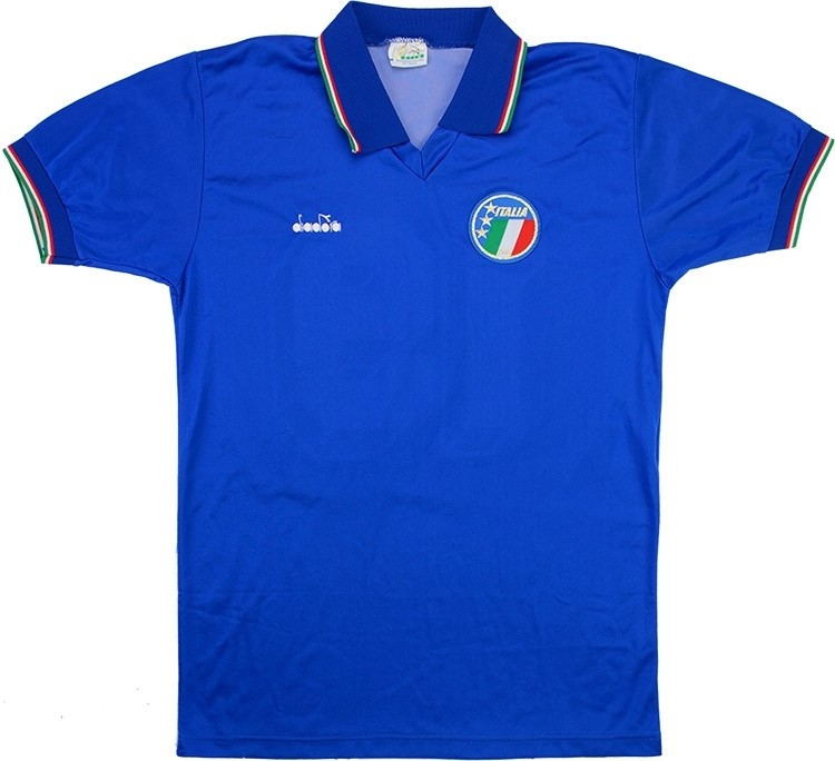 Maillot Football Italie Domicile Retro 1990 Azul