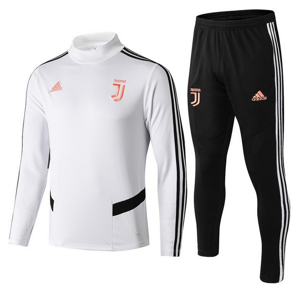 Survetement Football Enfant Juventus 2019/2020 Blanc Noir Rose