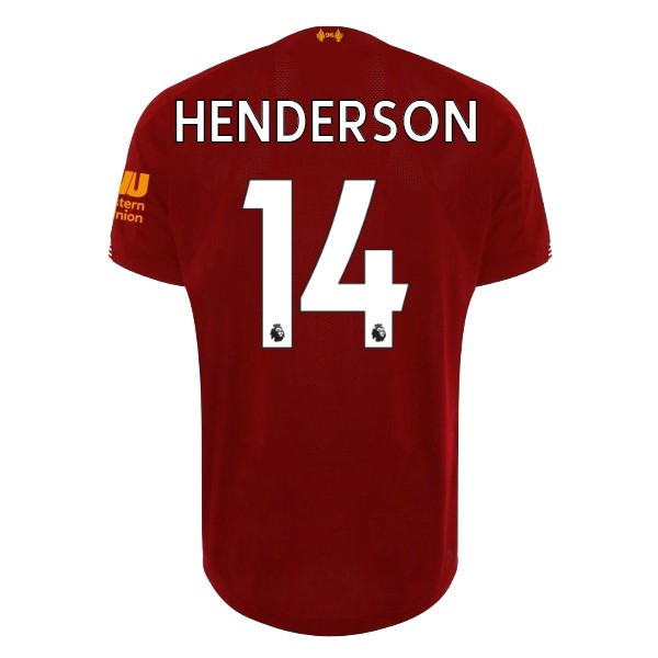 Maillot Football Liverpool NO.14 Henderson Domicile 2019/2020 Rouge