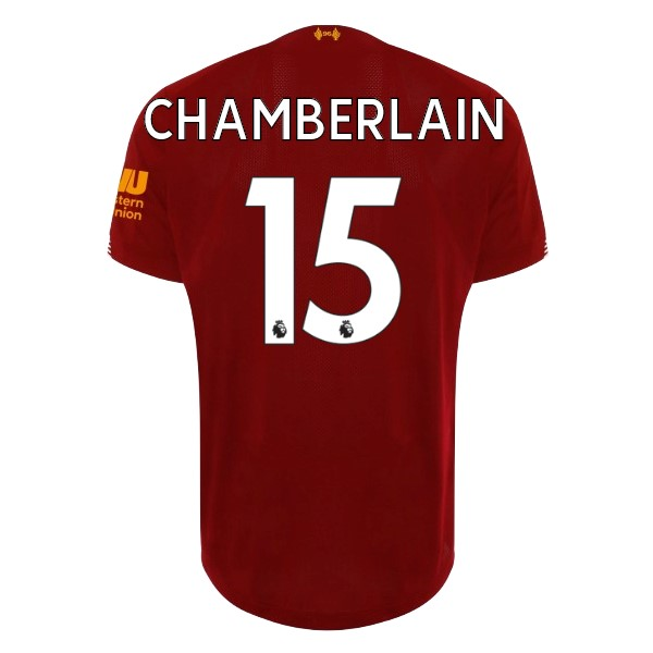Maillot Football Liverpool NO.15 Chamberlain Domicile 2019/2020 Rouge