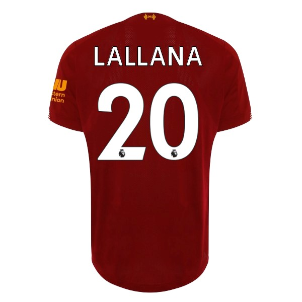 Maillot Football Liverpool NO.20 Lallana Domicile 2019/2020 Rouge