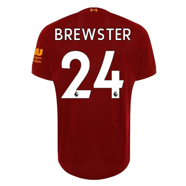 Maillot Football Liverpool NO.24 Brewster Domicile 2019/2020 Rouge
