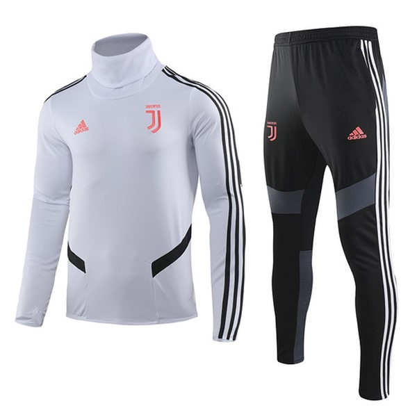 Survetement Football Enfant Juventus 2019/2020 Rose Blanc Noir
