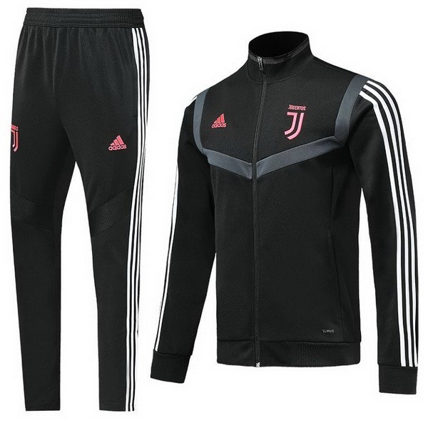 Survetement Football Enfant Juventus 2019/2020 Rose Noir