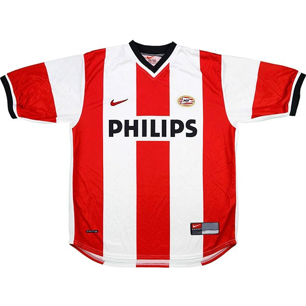 Maillot Football PSV Eindhoven Domicile Retro 1998 2000 Rouge Blanc