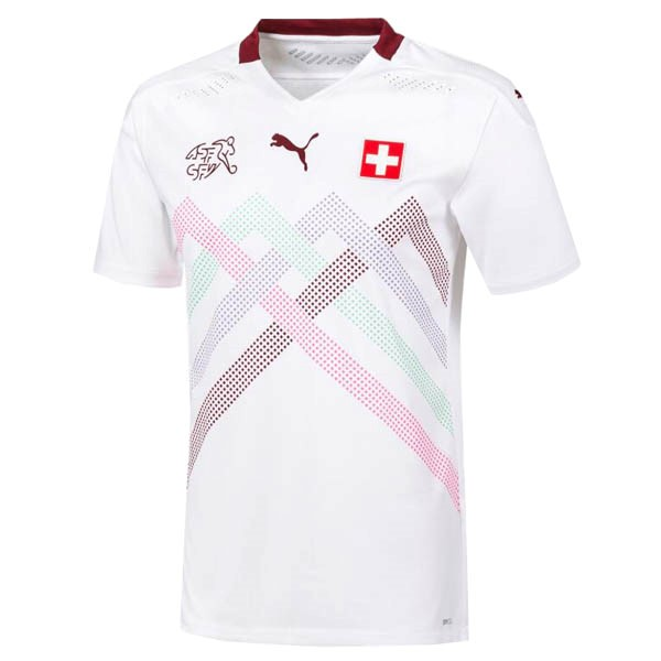 Maillot Football Suisse Exterieur 2020 Blanc