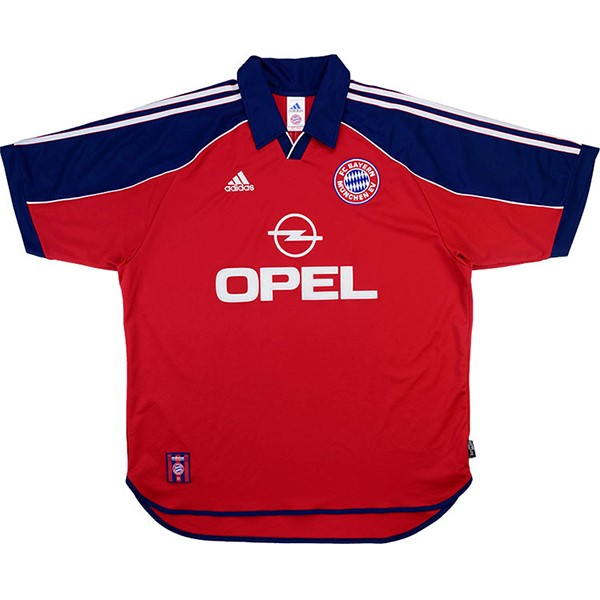 Maillot Football Bayern Munich Domicile Retro 1999 2001 Rouge