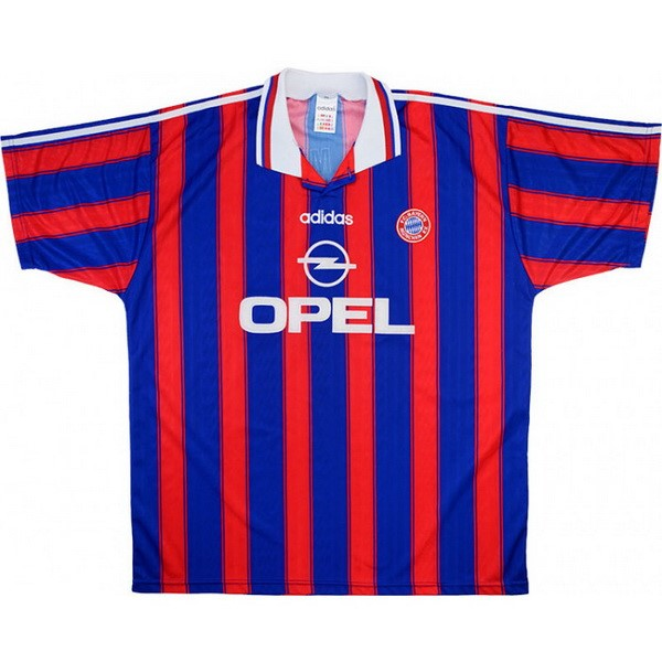Maillot Football Bayern Munich Domicile Retro 1995 1997 Bleu Rouge