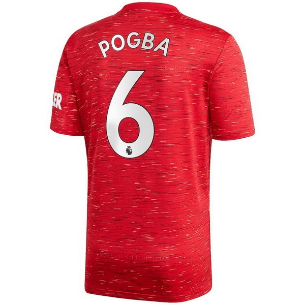 Maillot Football Manchester United NO.6 Pogba Domicile 2020/2021 Rouge