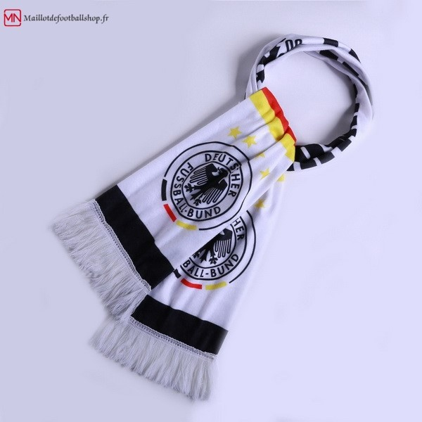 Écharpe Football Allemagne Tricoter Blanc