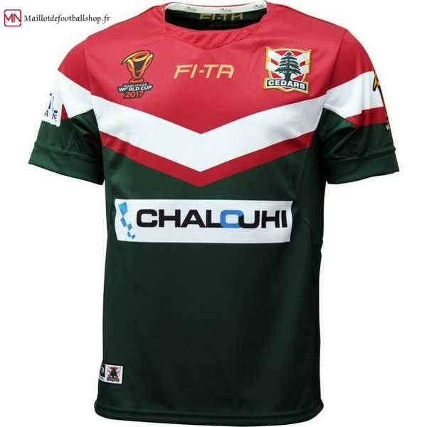 Maillot Rugby Líbano RLWC Domicile 2017/2018 Vert