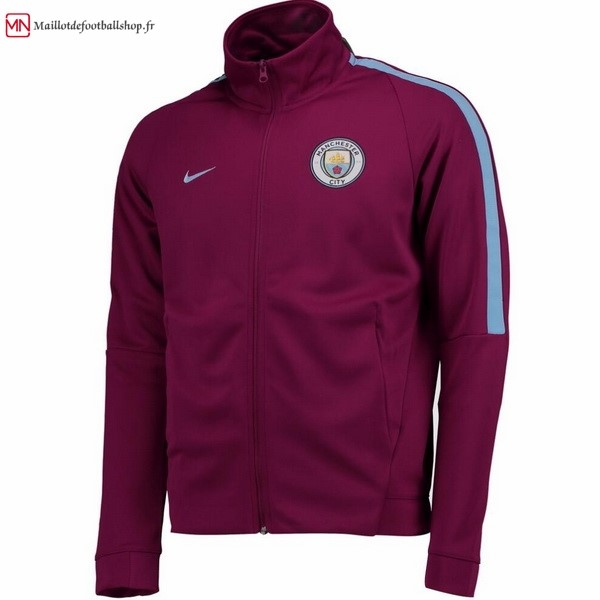 Veste Football Manchester City 2017/2018 Rouge Marine