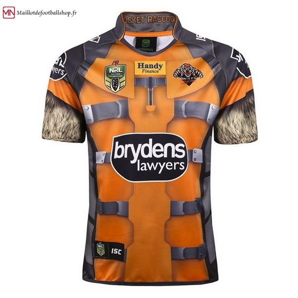 Maillot Rugby Wests Tigers 2017/2018 Jaune