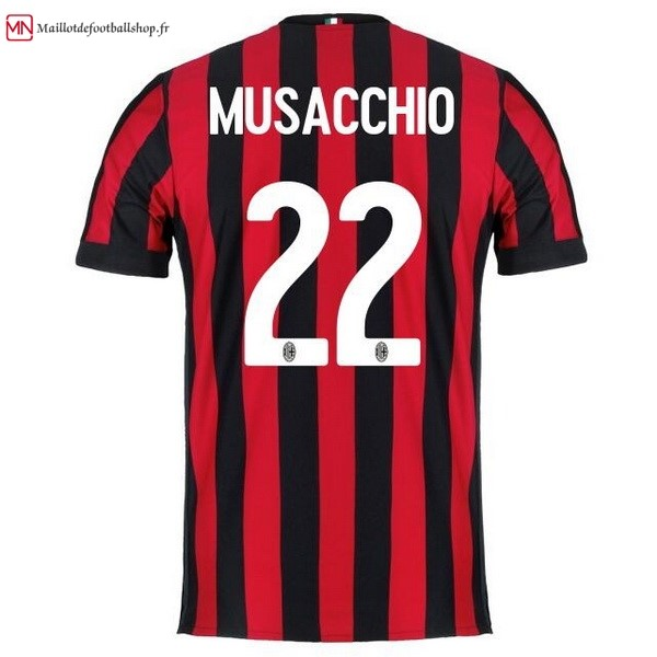 Maillot Football Milan Domicile Musacchio 2017/2018